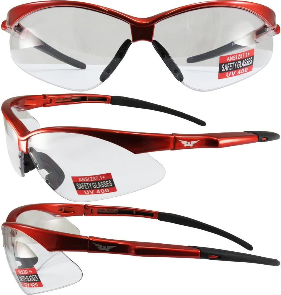 Global Vision Cougar Safety Sunglasses Black Frame Driving Mirror ...