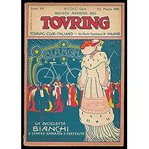 Copertina pubblicitaria (Bianchi) originale illustrata a colori in fascicolo del TCI.