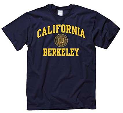 e6512d24d14598 Amazon.com : Shop College Wear UC Berkeley Arch and Seal Men's T-Shirt-  Navy : Sports & Outdoors