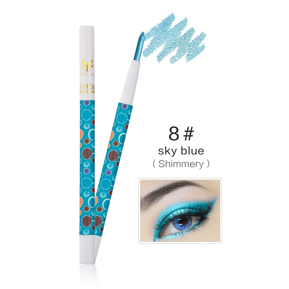 Glitter / Matte Eyeshadow, Molie 10 Colors Waterproof Eyeliner Makeup Shimmer Eye shadow Eye Liner Pencil Pen