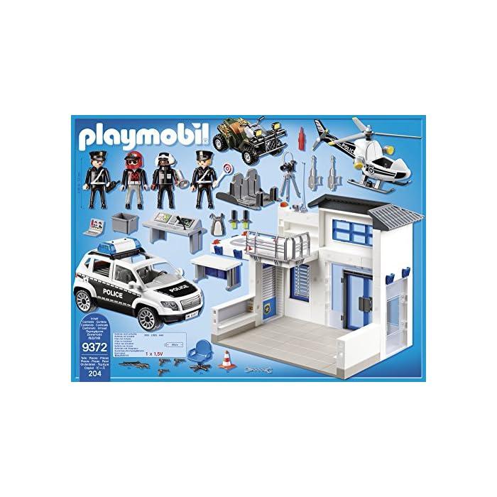 Incluye quad, helicóptero y coche El coche tiene luces y sonido Incluye 4 figuras