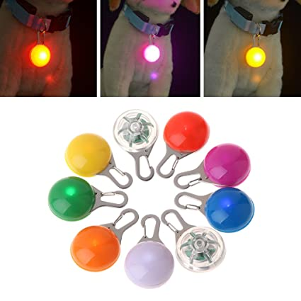 Colorful Clip-on Safety Night Light Pet Collar Keychain Light Led Waterproof Safety Night Walking Lights For Dogs And Cats Access Control Kits
