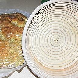 PanDaDa Round Rising Dough Banneton Brotform Rattan Bread Proofing Basket