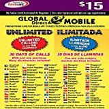 $15 Global Direct Unlimited Phone Calling Card