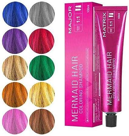 Rsoamy Tinte para el Cabello, Champú de Color de Cabello de Sirena, Colorantes para el Cabello, Color de Cabello no tóxico en 5 Colores