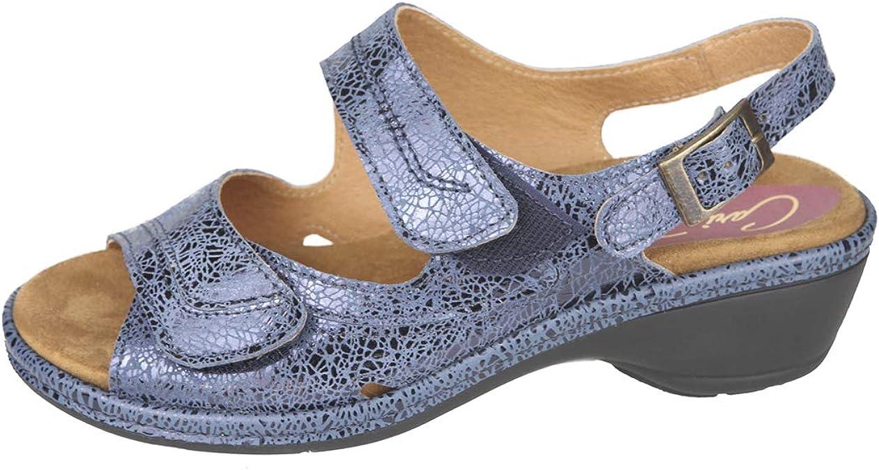 CARI FALCÓ Cómoda Sandalia Mujer para Plantillas extraibles Color Azul Ideal para Esta Temporada Primavera Verano 2019 para pies delicados Anchos