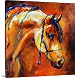 Marcia Baldwin Premium Thick-Wrap Canvas Wall Art Print Entitled Showtime Arabian 24''x24''