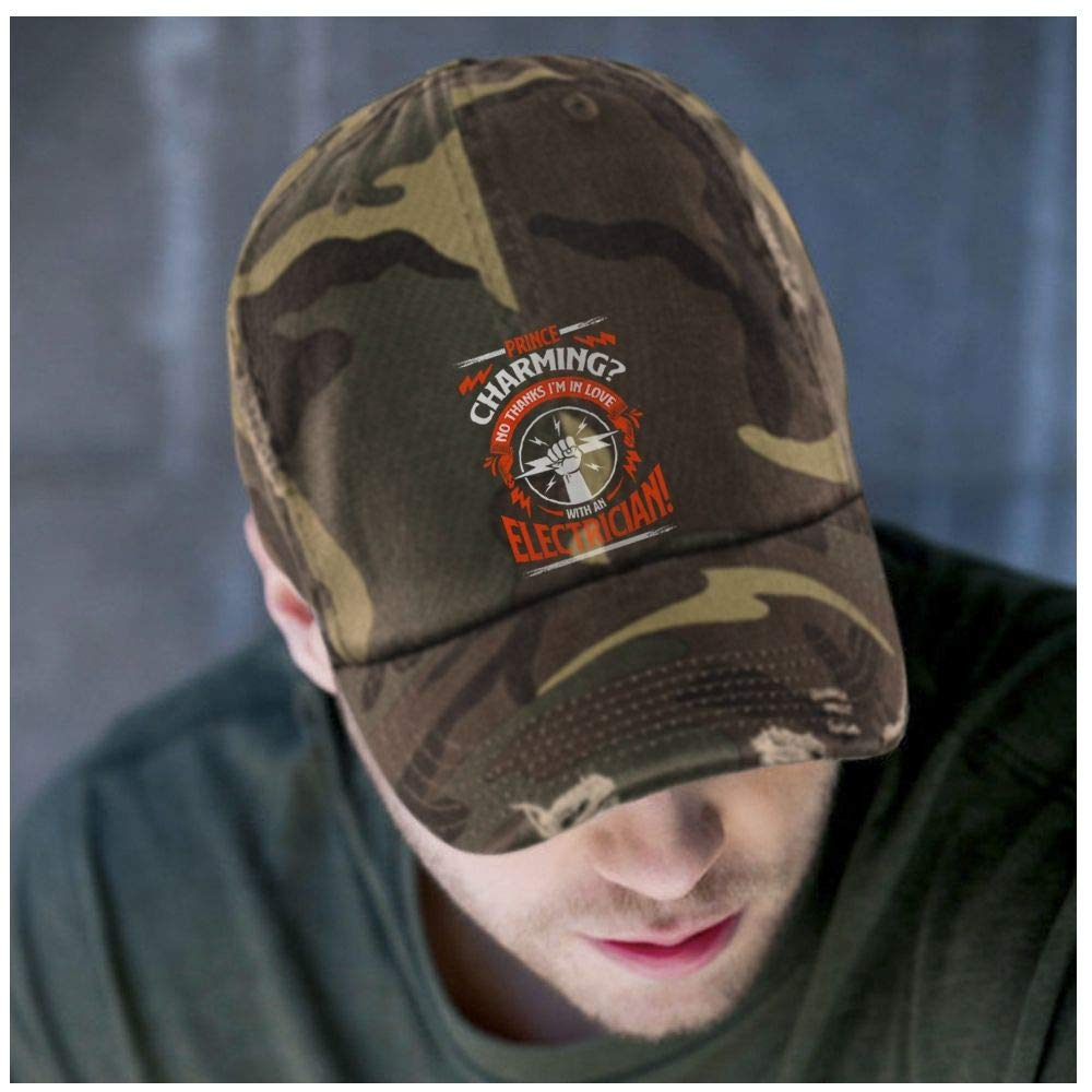 Prince Charming Hat Im an Electrician District Distressed Dad Cap