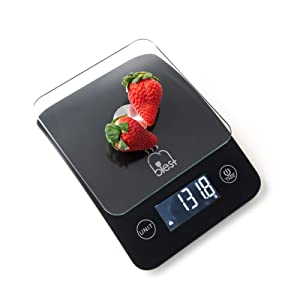 Blest Digital Kitchen Scale for Food,Digital Weight Grams,Ounce for Baking Cooking,0.1g/oz High Accurate Small Scale Multifunction Back-Lit LCD Display