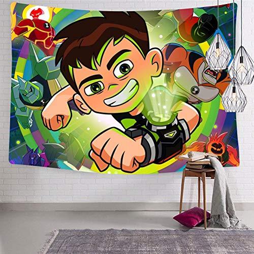 BEKAIHOME Ben-10 Aliens Print Wall Hanging Tapestries,Wall Hanging Decor Tapestries for Bedroom Livingroom (Alien X Ben 10)