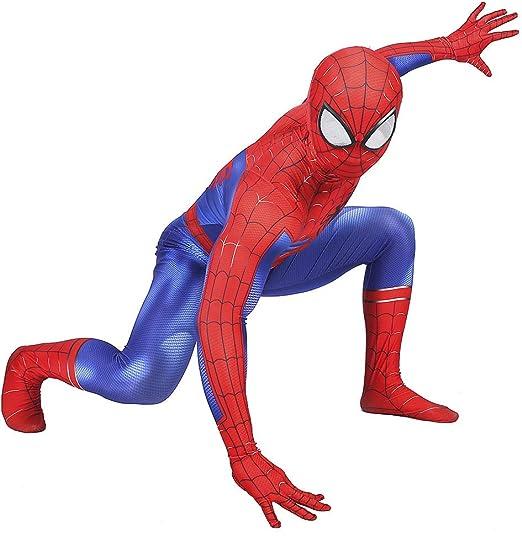 Erwachsene Kinder Iron Spiderman Kostüm Karneval Spinne Cosplay Overall Geschenk