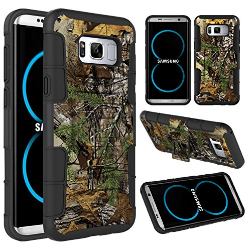 Galaxy S8+ Plus Case, Galaxy S8 Edge Case, Elegant Choise Hybrid Kickstand Heavy Duty Armor Holster Defender Protective Case Cover with Belt Clip for Samsung Galaxy S8 Edge / S8+ Plus