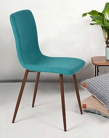 Amazon.com: FurnitureR silla de comedor, único stylem cojín ...