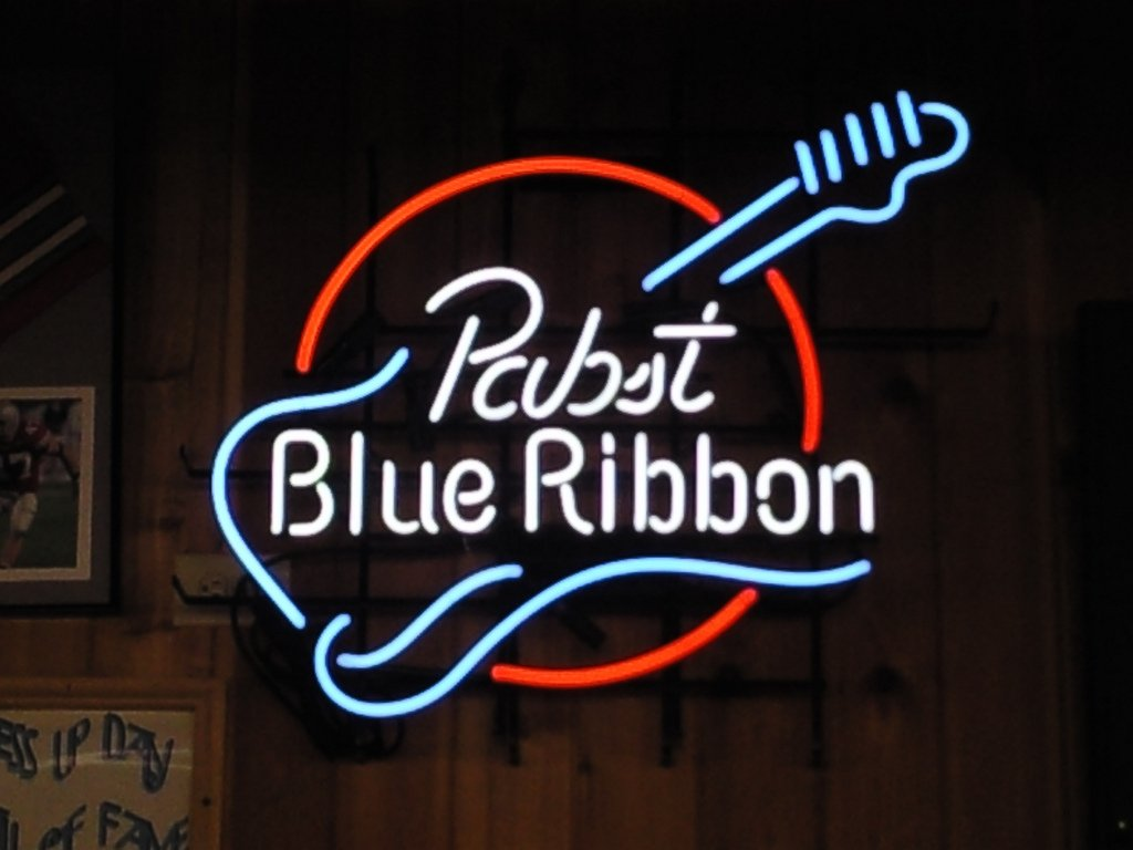 Urby® Pabst Blue Ribbon Neon Light Sign Beer Bar Pub Real Glass 17''x13'' High Quality! NA3