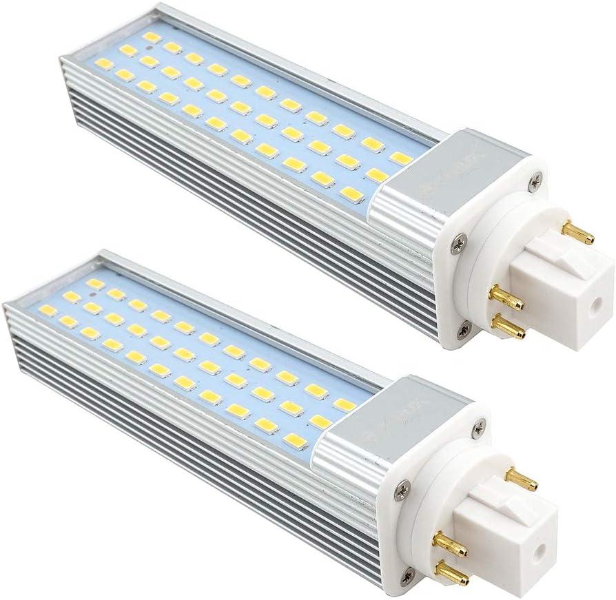 Bonlux 6W G23 2-Pin LED compacto de la l/ámpara blanco c/álido 3000K 180 grados en horizontal empotrada LED G23 Base de reequipamiento PL Bombilla 13W CFL reemplazo Eliminar // de derivaci/ón del lastre