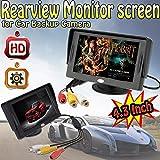 Aketek 4.3 Inch LCD TFT Rearview Monitor screen for Car Backup Camera