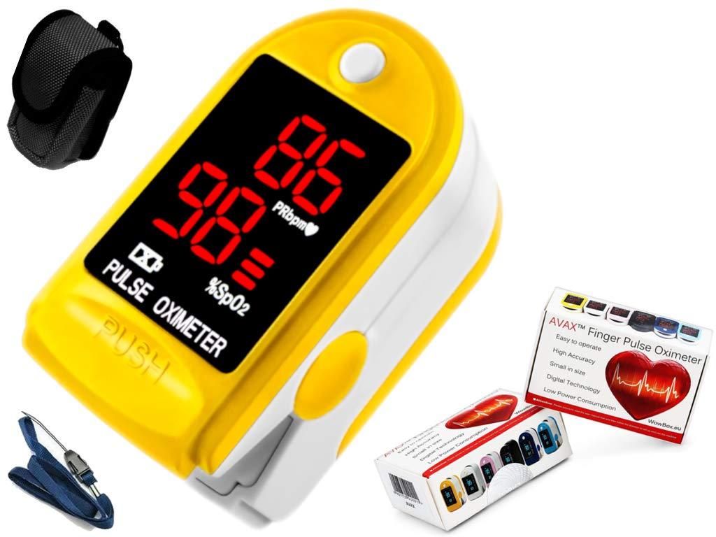AVAX 50DL - Oxímetro de pulso de dedo -%SpO2 (saturación de oxígeno en sangre) & Monitor de ritmo cardíaco: Amazon.es: Electrónica
