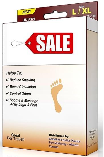 Plantar Fasciitis, Compression Socks 2 PAIR, (4 x Socks) Sleeve Best on