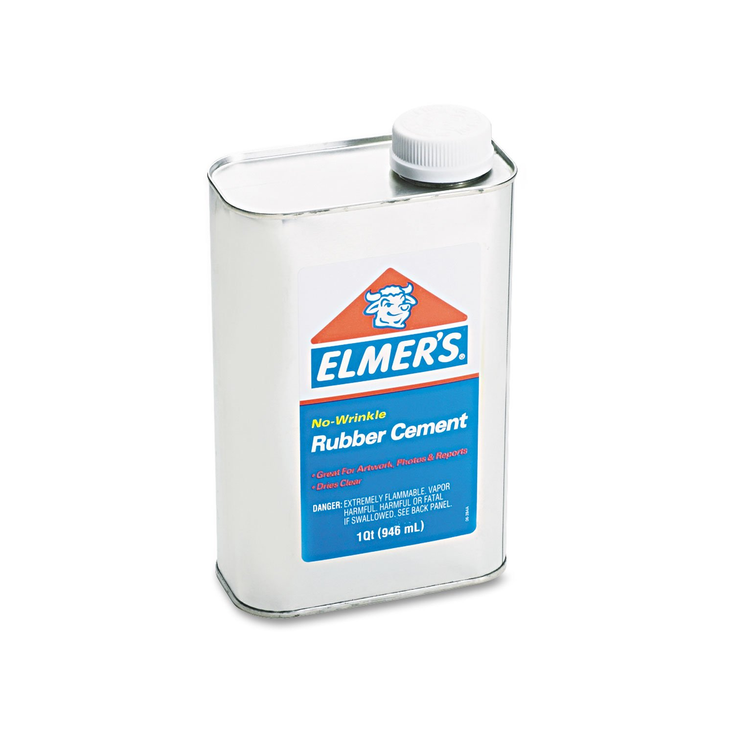 Elmer's 233 Rubber Cement, Repositionable, 1 qt by Elmer's