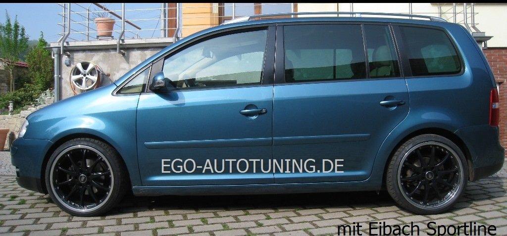 Eibach Sport Line - 21 - 85 - 016 - 02 - 22 - Muelles para bajar la suspensión para 50/40 mm para Volkswagen Touran 1T (1101 - 1200/de 1190kg): Amazon.es: ...