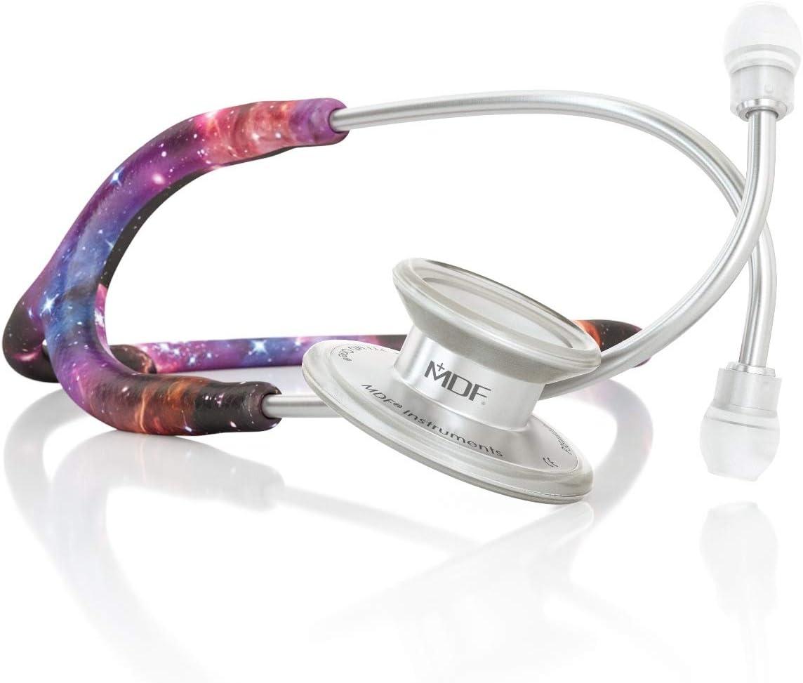 MDF® MD One® Premium Estetoscopio doble cabeza de acero inoxidable - Garantía de por vida & Programa-piezas-gratuitas-de-por-vida - (MDF777) (Galaxia)