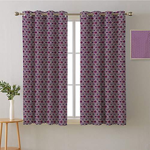 Jinguizi Curtain for Kids Room Grommets Pattern Darkening Curtains décor Darkening Curtains Blackout/Room Darkening Curtains Curtains/Panels/Drapes(1 Pair, 36