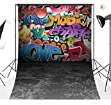 LB 5x7ft Graffiti Style Vinyl Photography Backdrop Customized Photo Background Studio Prop TY111