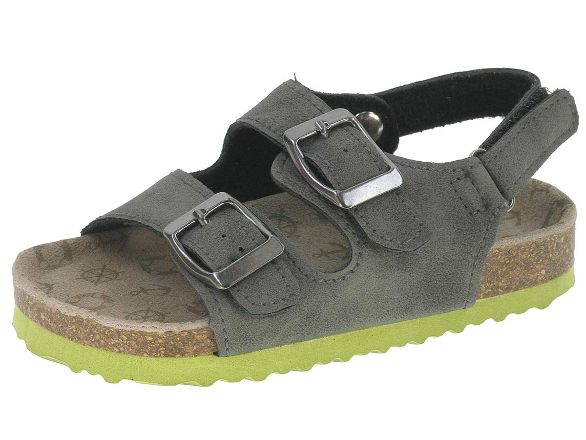 Open Toe Casual Children's Sandal With Adjustable Straps & Cork Sole   Cork Insole Casual Sandal, 8
