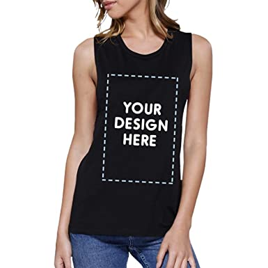 b4baf0fcb5cc6 365 Printing Your Design Here Black Custom Muscle Tank Top Personalized  T-Shirt