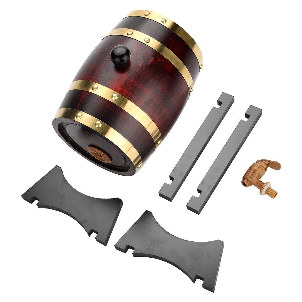 Barile di quercia, Haofy Vintage Legno di quercia Legno barile per invecchiamento Whisky Tequila Rum Beer Wine Port(marrone)