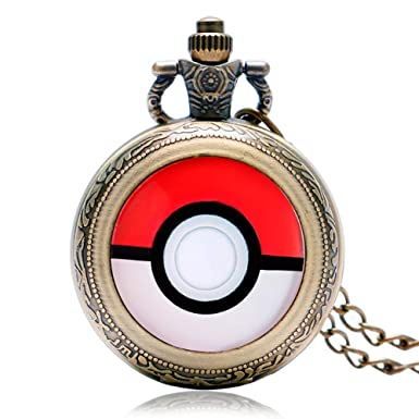 Amazon.com: Vintage Pocket Watch, Monster Anime Pokeball Bronze Pokemon Go Pocket Watch for Boys Girls Pocket Watch Gift.: Watches