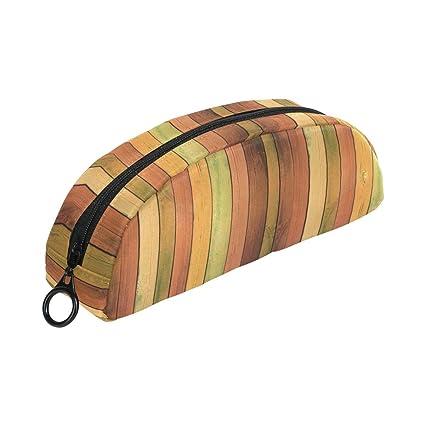 COOSUN - Estuche de madera con diseño de semicirculos, bolsa para ...
