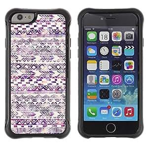 Fuerte Suave TPU GEL Caso Carcasa de Protección Funda para Apple Iphone 6 PLUS 5.5 / Business Style American Pattern Watercolor Purple