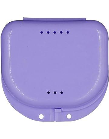 Eruditter Caja de Dientes Perforados, Caja de Almacenamiento de dentaduras postizas, Caja de molares