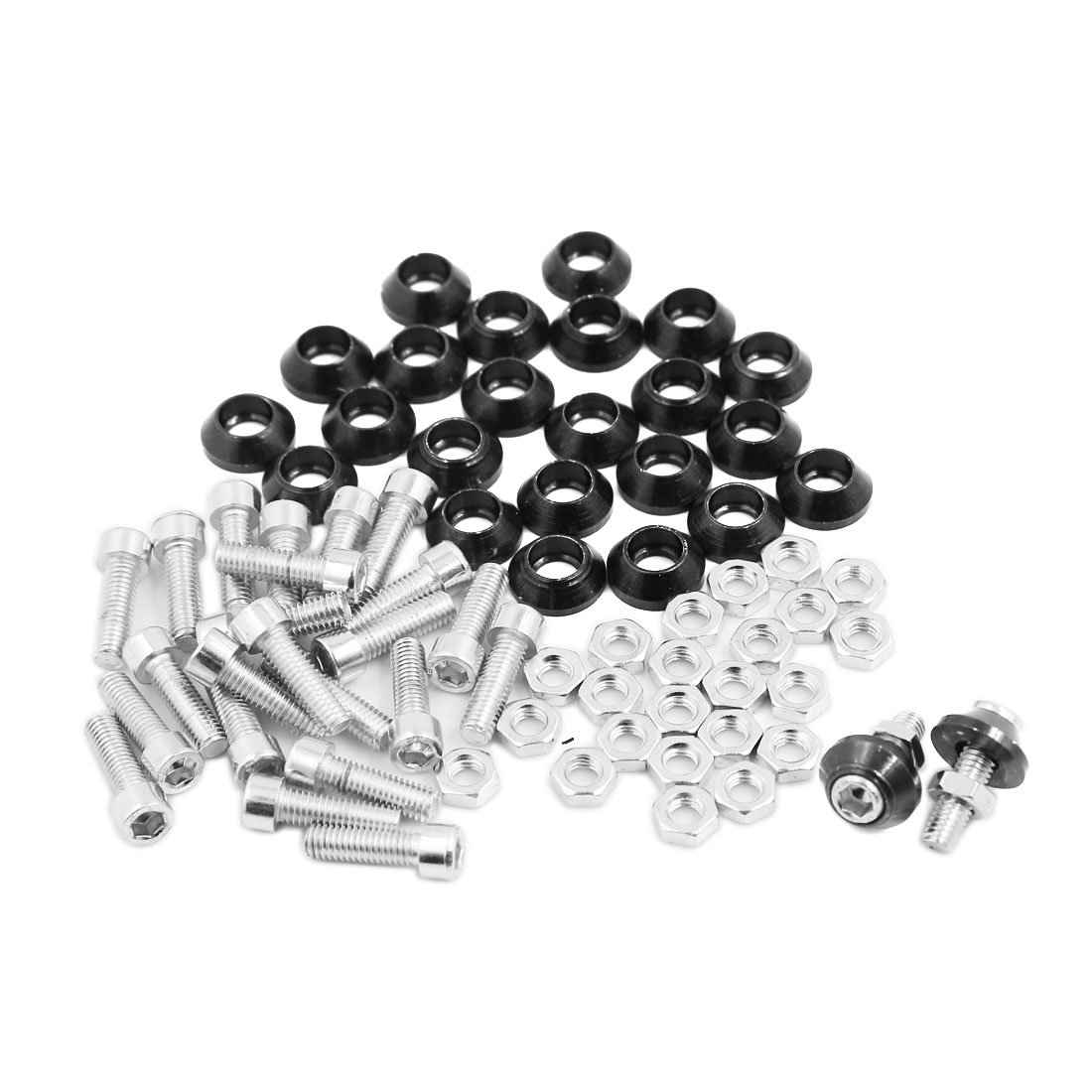 uxcell Motorcycle License Plate Frame Screw Black 25 Pcs by uxcell