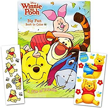 Winnie the pooh coloring book with stickers 96 page coloring book with winnie the