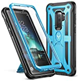 Galaxy S9+ Plus Case, YOUMAKER Heavy Duty Protection Kickstand with Built-in Screen Protector Shockproof Case Cover for Samsung Galaxy S9 Plus 6.2 inch (2018 Release) - Blue