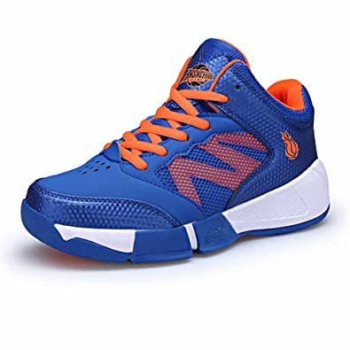 Qianliuk Boys Girls Sneakers Outdoor Lace up Atmungsaktive Athletic Anti Slip Casual Laufschuhe für 13-16 Jahre gcBlA