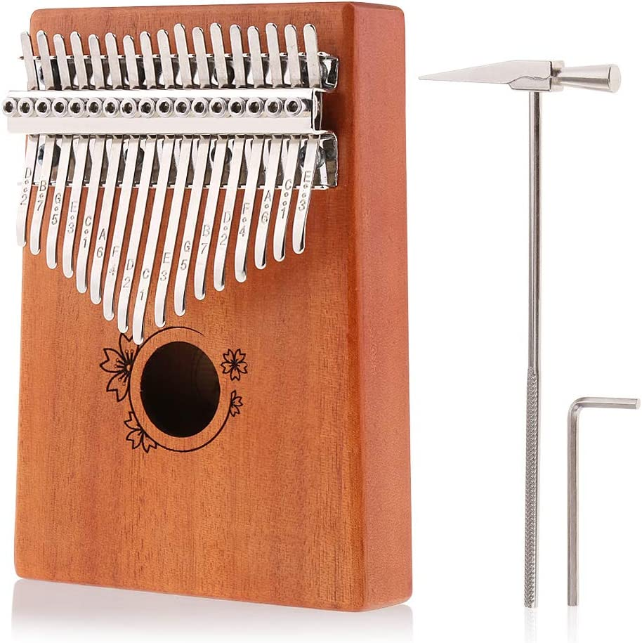 Alnicov Kalimba Thumb Piano 17 Keys Today's only Wood Mbira Pian Finger Solid NEW before selling ☆
