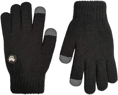 Toddler Fleece Lined Gloves Mittens Anti-Skid Warmth Black
