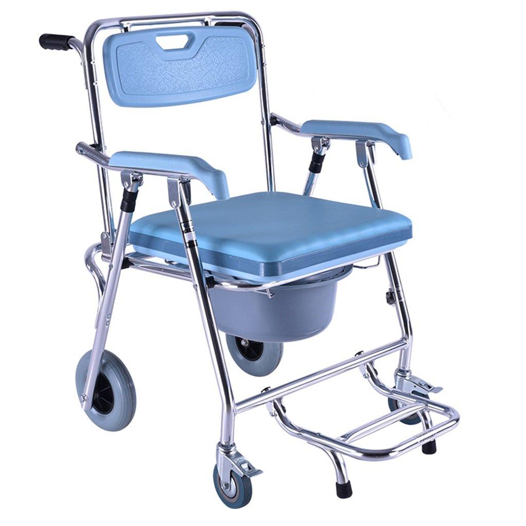 競売 アルミニウム合金強力で安定した便器椅子滑り止め手すり便座着脱式ペダルバスルーム折りたたみシャワー便高齢者/妊婦/障害者トイレチェアベルトホイール最大150kg B07F6ZXCR5 B07F6ZXCR5, ヘルシー救急BOX:986c606c --- eastcoastaudiovisual.com