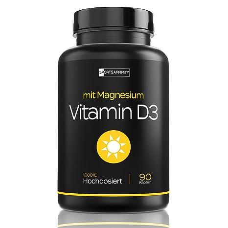 QUALITÄTSSIEGER 2018* Vitamin D3 [Mit Magnesium] » Für Hohe Bio Verfügbarkeit « Vitamin D 3 Hochdosiert 1000 ie Tabletten/Pil