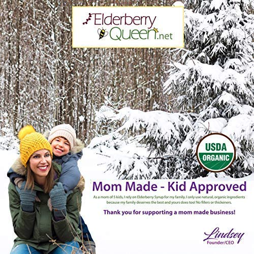 Amazon.com: Organic Elderberry Liquid Syrup by Elderberry Queen- Sambucus, Aronia Berry, Pure Natural Certified Organic Immune Support Herbal Supplement ...