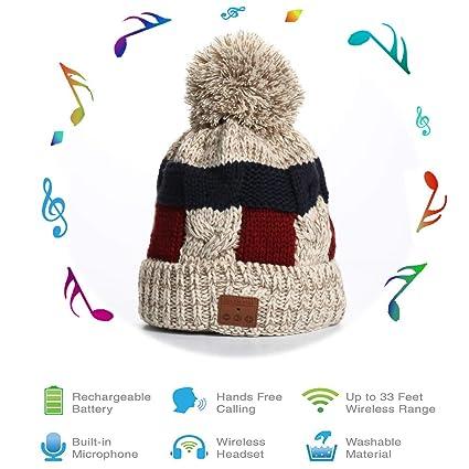 Amazon.com  BLUEHRESY Bluetooth Beanie Hat 5776037ea9ef