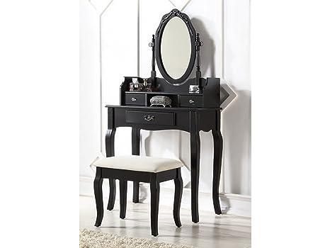 Lumberton tavolo da toeletta stile antico con sgabello colore