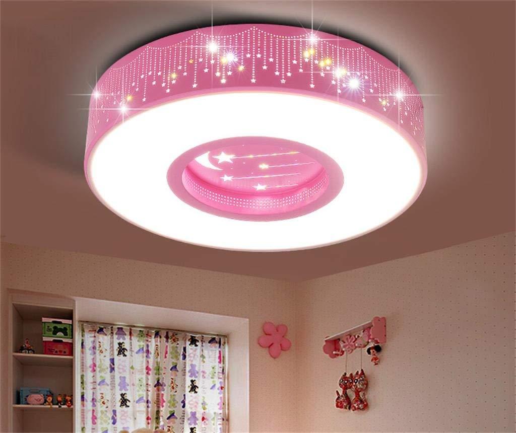 FXING Kinderhaus Deckenleuchte LED Sterne Mond Leuchten Männliche und weibliche Schlafzimmer Lampen warmen und einfach kreative Deckenleuchten (Größe  40  40  9 cm)
