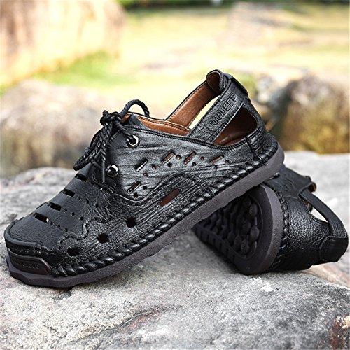 Da 0 Sandalo Marrone 0 Traspiranti Sandali pantofole 27 24 Scarpe Uomo Aperta All'aria Antiscivolo Spiaggia Wagsiyi da Scarpe CM Neri spiaggia Sport 04wfa