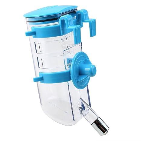 SODIAL Botella de agua potable de perrito gato perro Dispensador de agua para mascotas Alimentador de