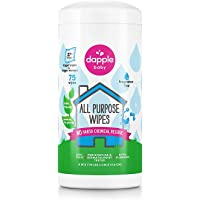 Dapple Surface Wipes for Highchairs, Toys and More Fragrance Free, 75 Count