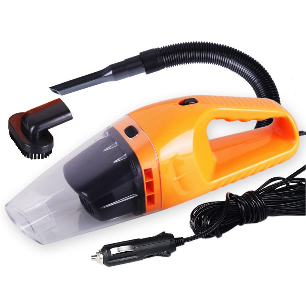 VORCOOL 12V 120W Mini Handheld Auto Staubsauger, Staubsauger (Orange)